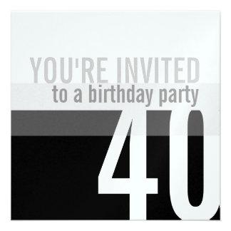 Convites de festas do aniversário de 40 anos prat