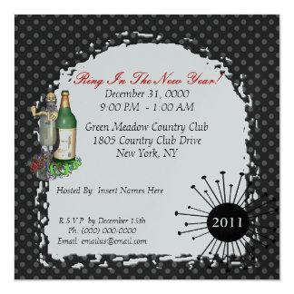 Convites de festas do ano novo