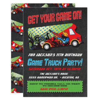 Convites de festas do caminhão do jogo