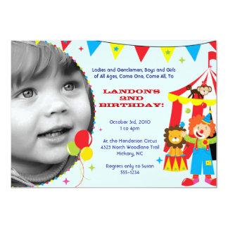 Convites de festas do circo/carnaval