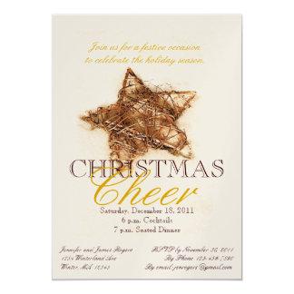 Convites de festas do comensal de Natal da estrela