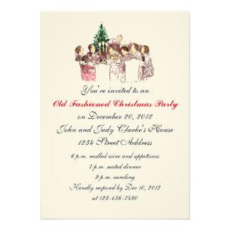 Convites de festas do comensal do natal vintage