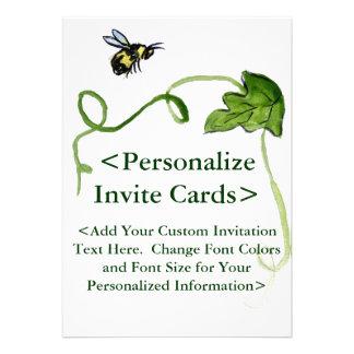 Convites de festas do costume da arte da abelha do