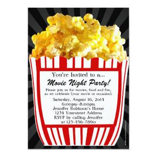 Convites de festas do costume da pipoca da noite