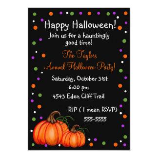 Convites de festas do Dia das Bruxas da abóbora
