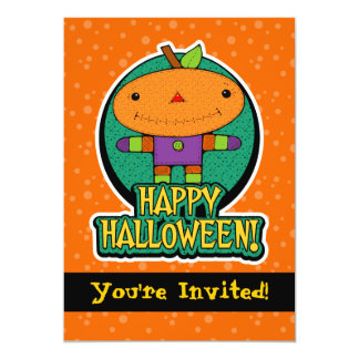 convites de festas do Dia das Bruxas da boneca da