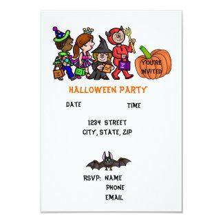 Convites de festas do Dia das Bruxas das crianças