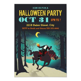 Convites de festas do Dia das Bruxas do cavaleiro