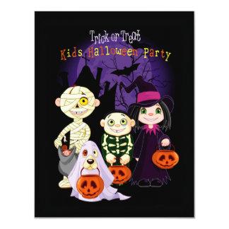 Convites de festas do Dia das Bruxas dos miúdos