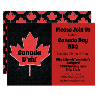 Convites de festas do dia de Canadá
