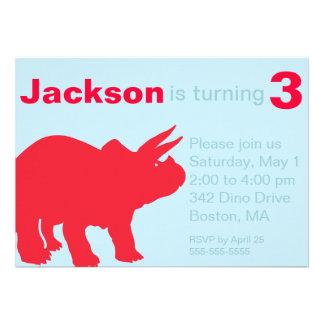 Convites de festas do dinossauro das crianças
