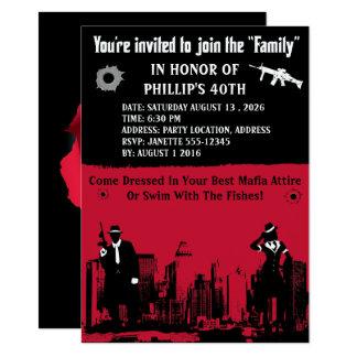 Convites de festas do gangster