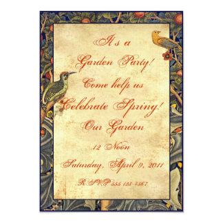 Convites de festas do jardim do Pre-Raphaelite