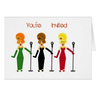 Convites de festas do karaoke