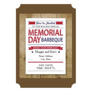 Convites de festas do Memorial Day do estilo do