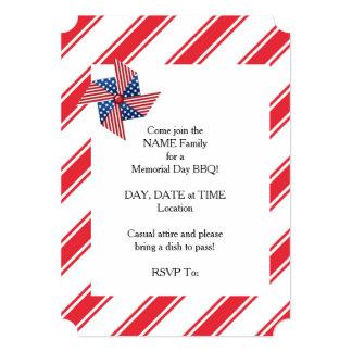 Convites de festas do Memorial Day do Pinwheel