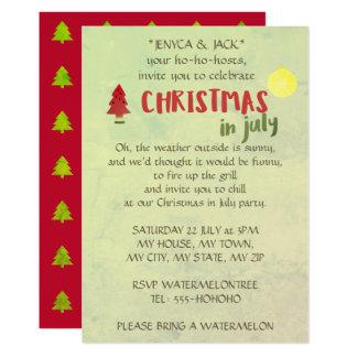 Convites de festas do Natal em julho