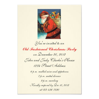 Convites de festas do natal vintage