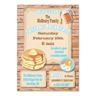 Convites de festas do pequeno almoço da panqueca