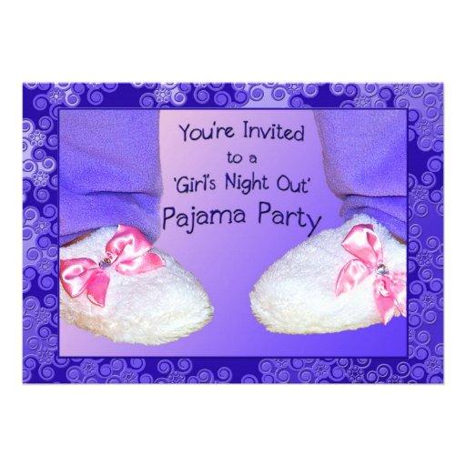 Convites de festas do pijama