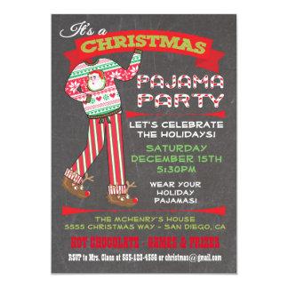 Convites de festas do pijama do Natal do quadro