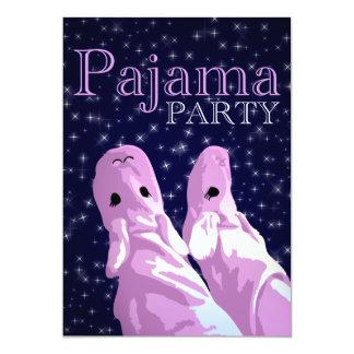 convites de festas do pijama: nightshine