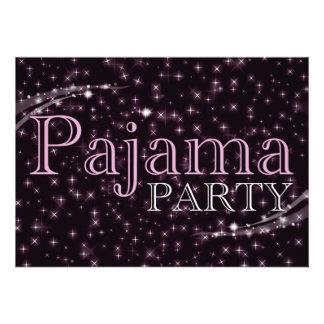 convites de festas do pijama starshine