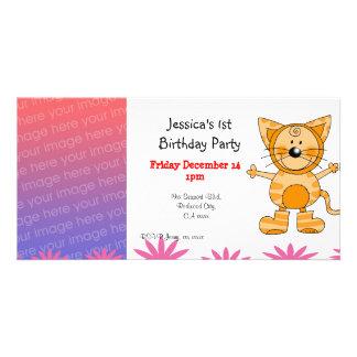 Convites de festas do primeiro aniversario (traje  cartão com foto personalizado