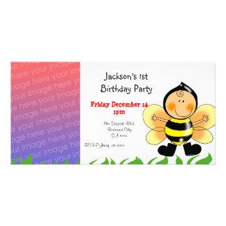 Convites de festas do primeiro aniversario (traje  cartão com fotos
