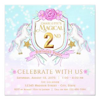 Convites de festas do segundo aniversário do
