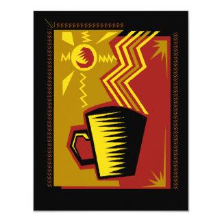Convites de festas do Social do chá do café do