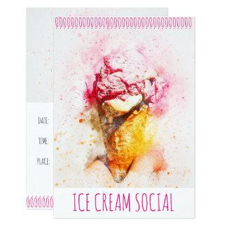 Convites de festas do Social do sorvete