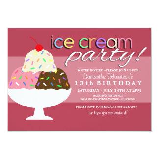 Convites de festas do sorvete