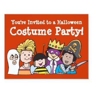 Convites de festas do traje dos miúdos