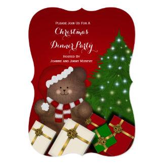 Convites de festas do urso de ursinho do Natal