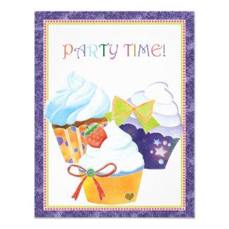 Convites de festas doces dos cupcakes do
