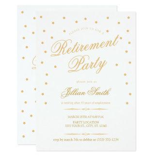 Convites de festas dourados da aposentadoria