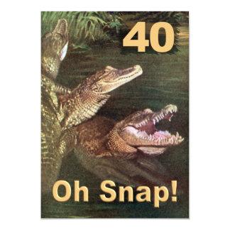 Convites de festas engraçados do aniversário de 40 convite 12.7 x 17.78cm