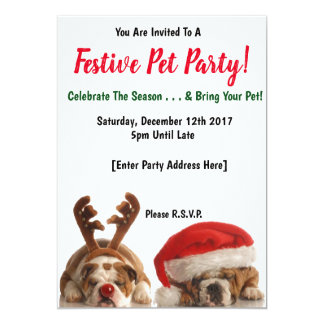 Convites de festas festivos do animal de estimação