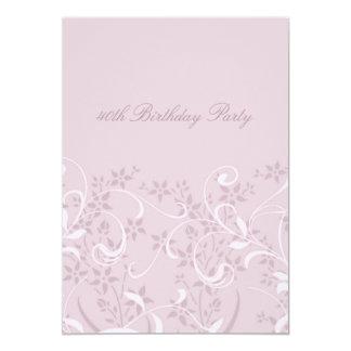 Convites de festas florais roxos do aniversário de