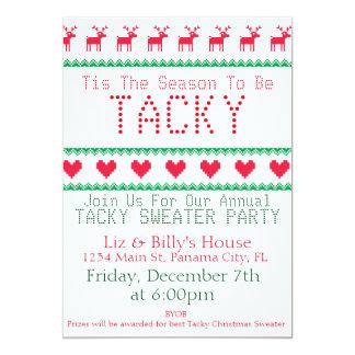 convites de festas foleiros da camisola do Natal