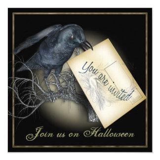 Convites de festas góticos do corvo preto
