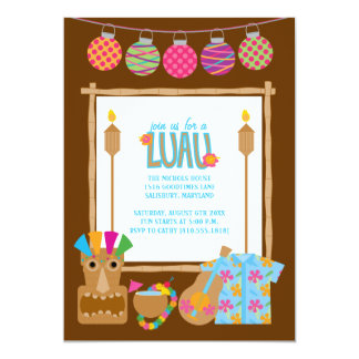 Convites de festas havaianos de Luau