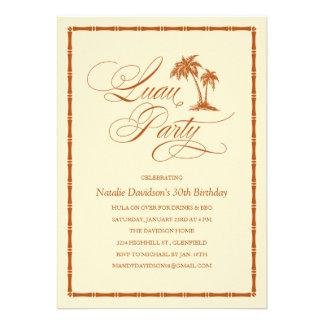 Convites de festas havaianos de Luau da palmeira e