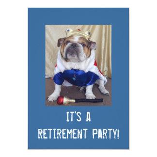 Convites de festas ingleses da aposentadoria do
