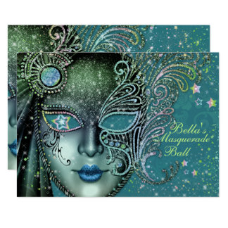 Convites de festas lindos do mascarada