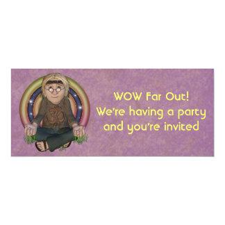 Convites de festas longos dos anos 60 do hippy convite 10.16 x 23.49cm
