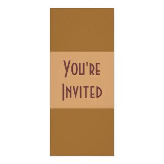 Convites de festas marrons simples