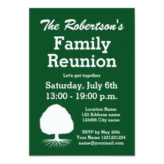 Convites de festas modernos da reunião de família