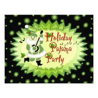 Convites de festas musicais do pijama do duende do